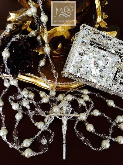 Lazos cristal swarowsy perlas