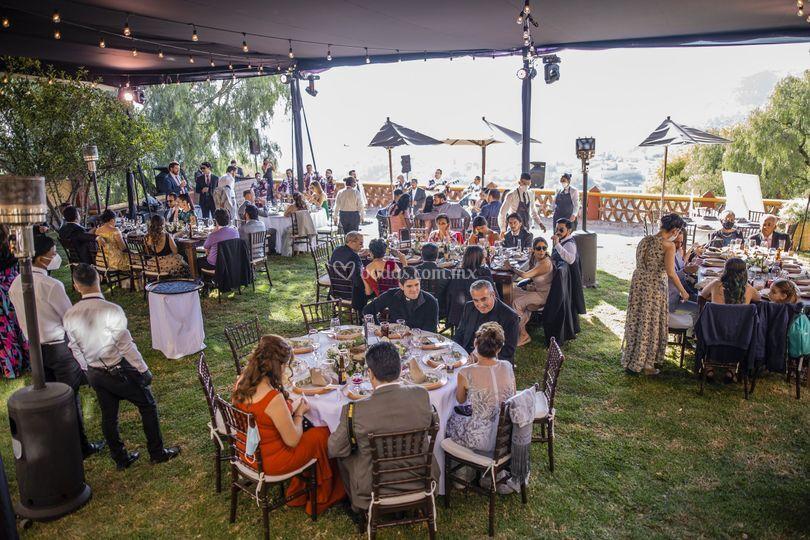 Montaje boda jardín