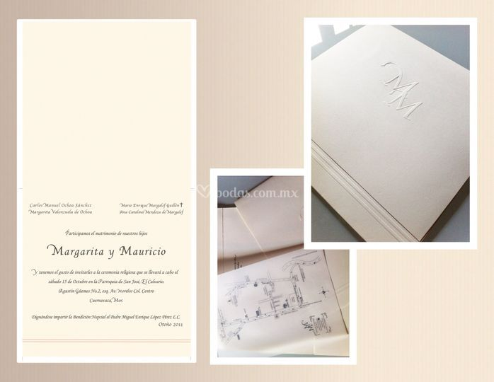 Invitaciones Maggie de Flor de Papel