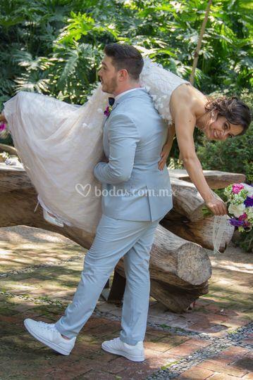 Disfrutando su boda