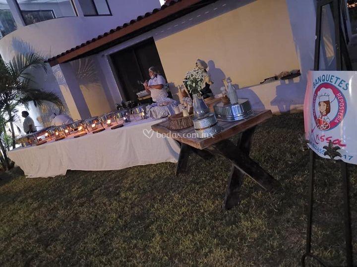 Bufete de pastas para boda