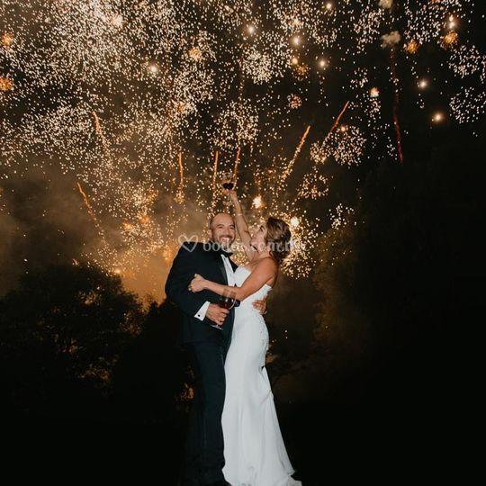 Pirotecnia para bodas