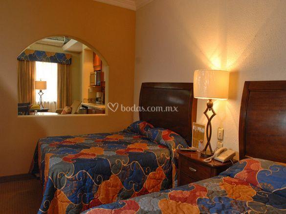 Interior de las habitaciones de san sebastian hotel foto 3 for Cuarto para las 7