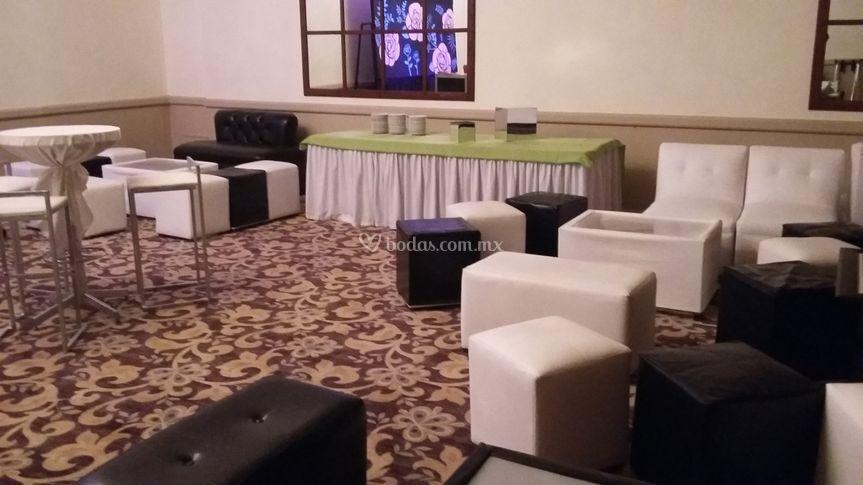 Salas lounge y periqueras