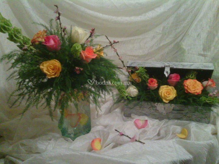 Bellas decoraciones florales