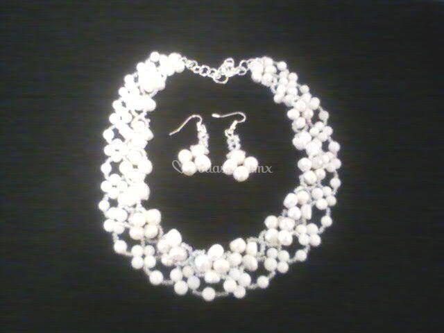 Collar novia de perla