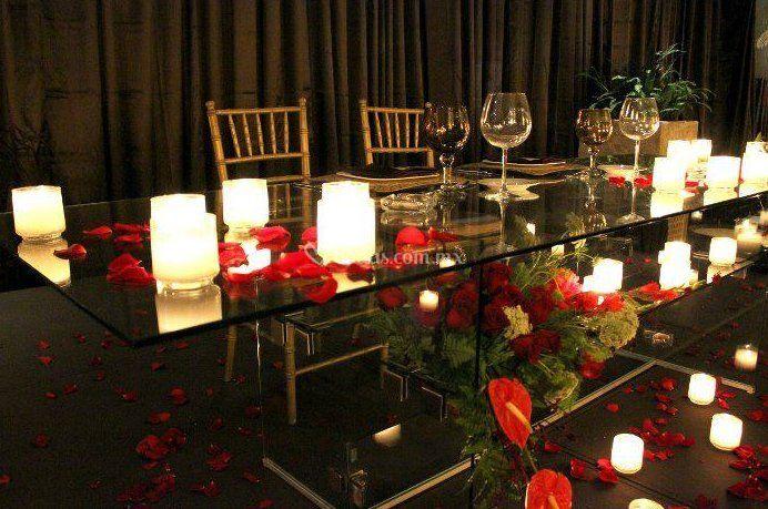 Mesa de honor rectangular de todo de cristal fotos - Mesas de cristal para bodas ...