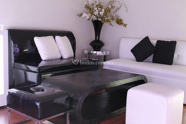 Salas lounge negro/blanca