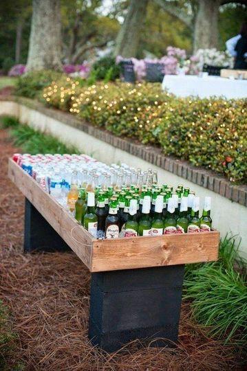Wedding beer garden