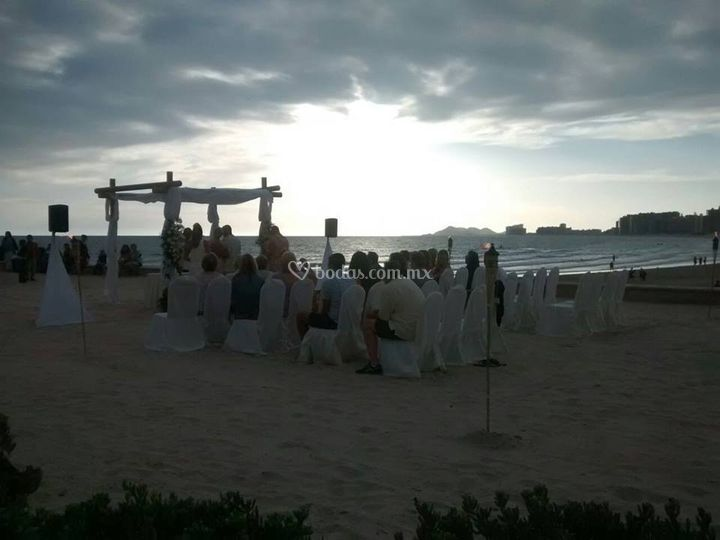 Ceremonia en playita