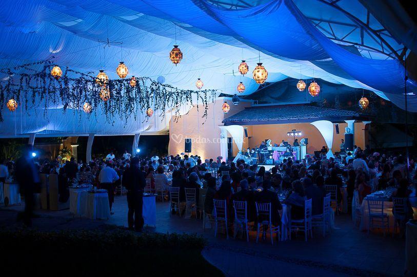 La decoración de la boda..