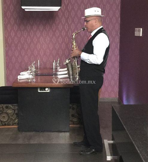 Sax cena romántica