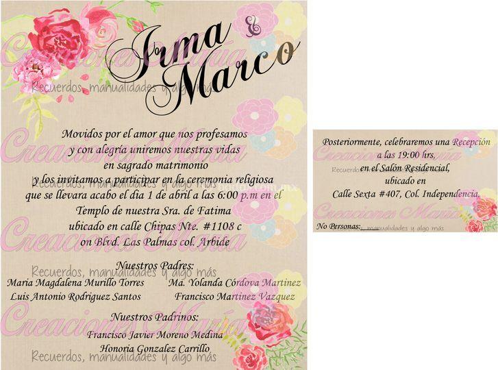 Diseño de invitaciónes
