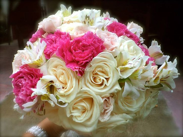Rosas astroamerias y claveles