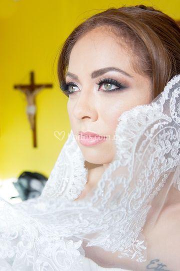 Makeup novia en tonos metros
