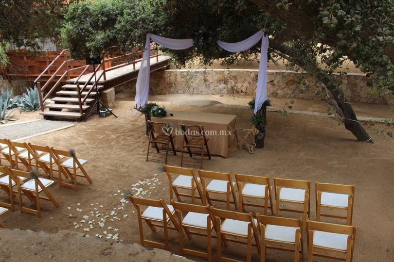 El Encinal ceremonia