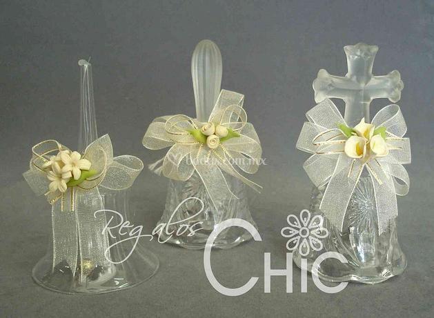 Campanitas de cristal para los invitados