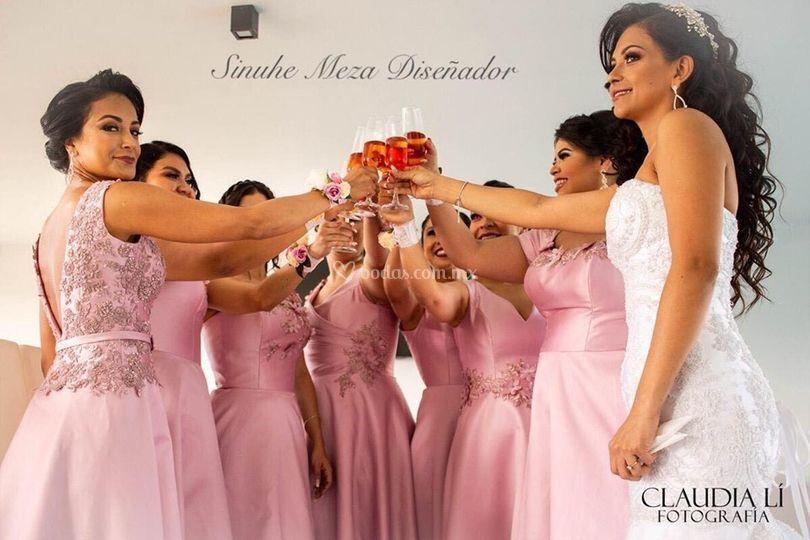 Vestidos de damas y novia