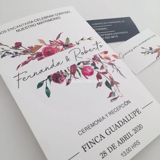 Invitación Fernanda y Roberto