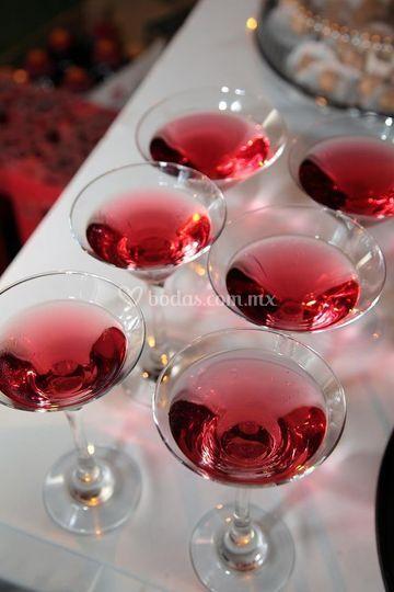 Servicio de bebidas en boda