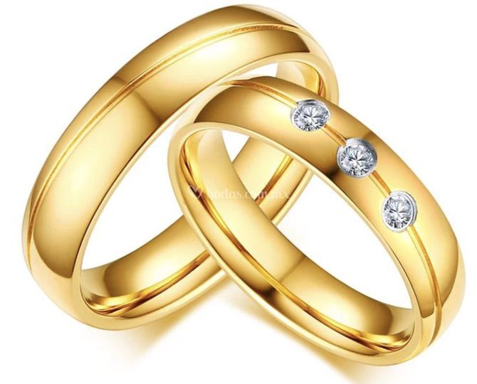 Oro amarillo 14k y diamantes