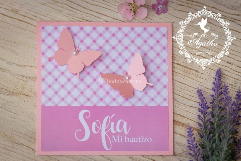 Invitación mariposas