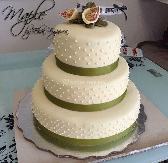 Pastel en verde