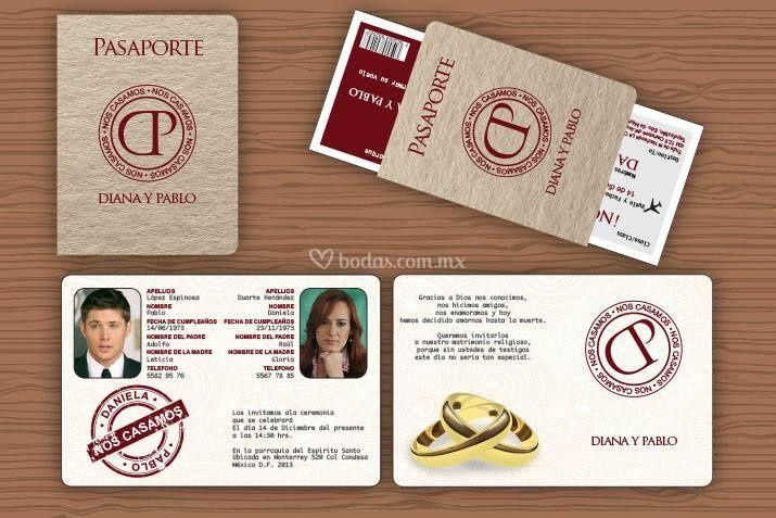 Modelo Tipo Pasaporte De Invitaciones Invito Foto 16