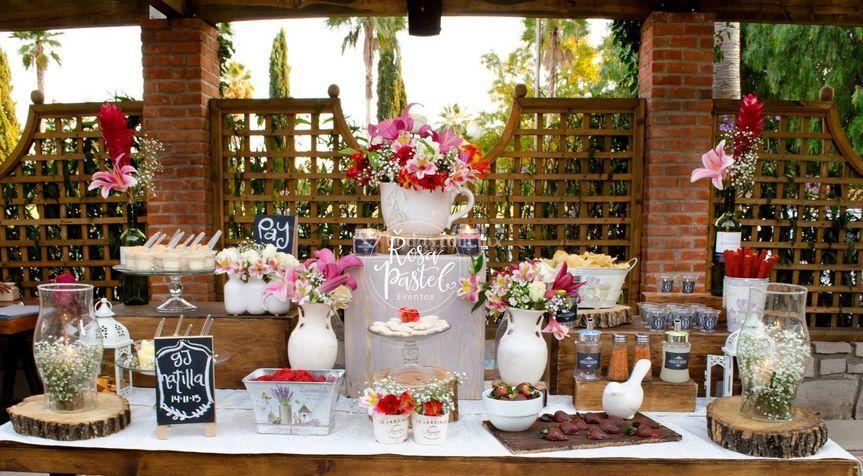 Barra de postres boda