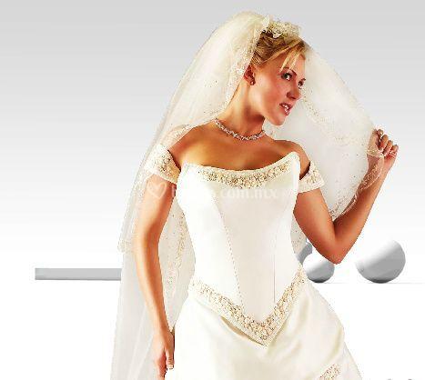 Vestido novia diamante
