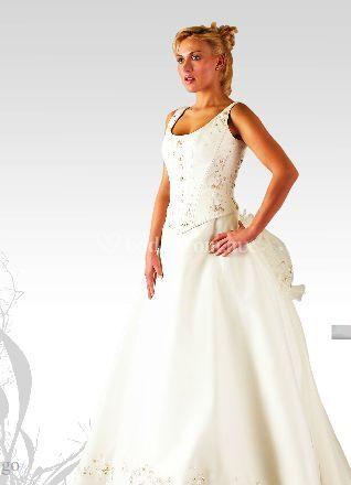 Vestido novia oro