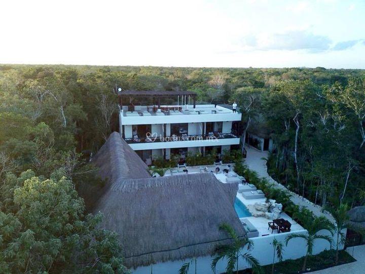 Vista aérea villa