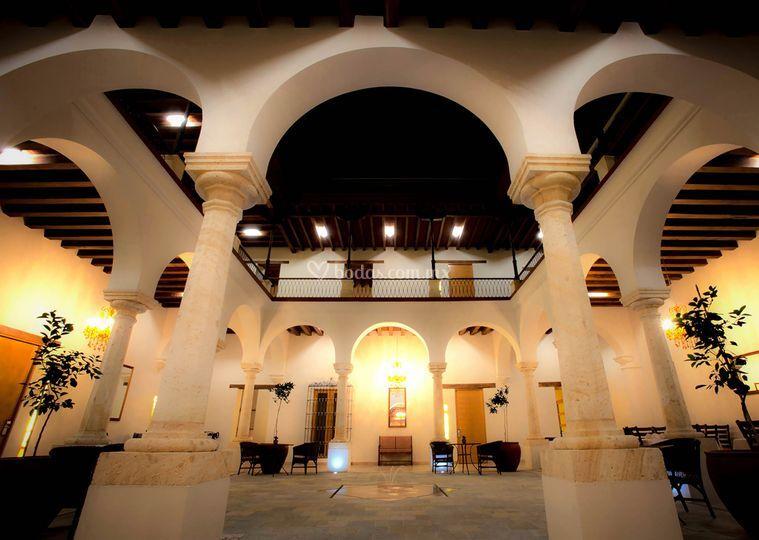 Entrada al hotel de Parador de Alcalá Oaxaca