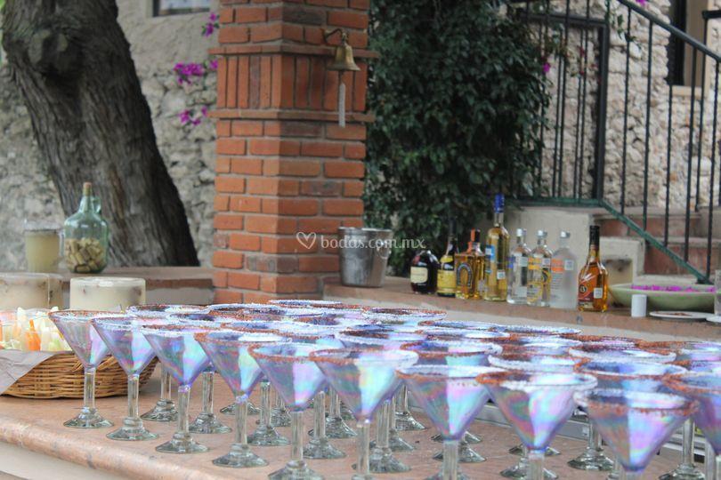 Margaritas de sabores de inici