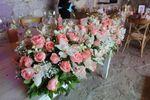 Arreglo floral mesa novios