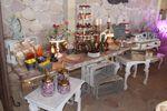 Mesa de dulces y cup cakes