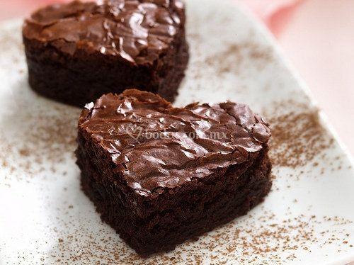 Brownies de corazones