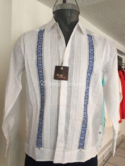 Bordado azteca de lino