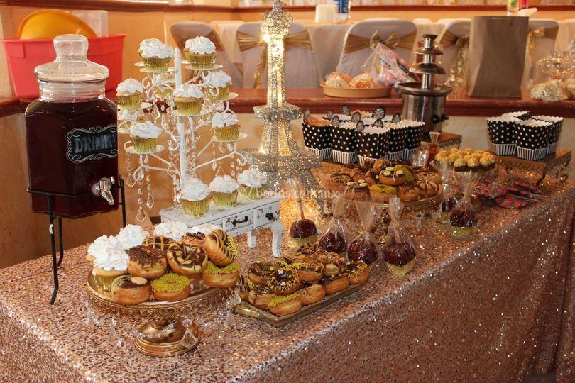 Mesa de dulces en teloloapan