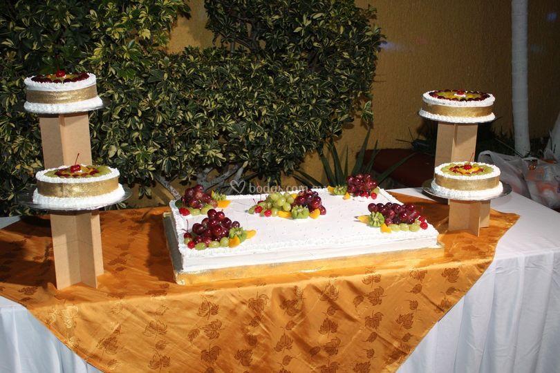 Pastel en boda