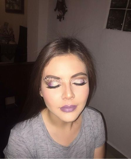 Makeup with glitters
