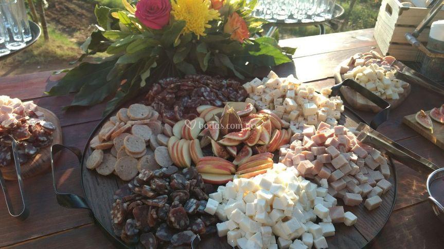 Mesa de quesos y chalcuteria