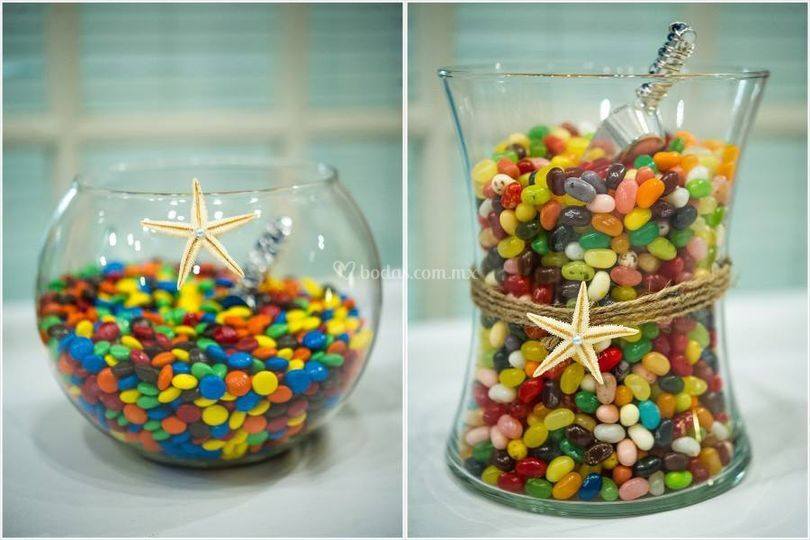 Mesa de dulces a granel
