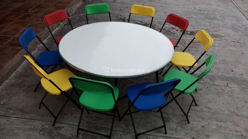 Mesa redonda para niños
