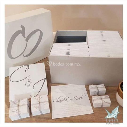 Caja entrega de invitaciones