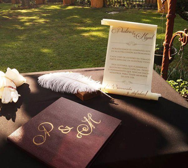 Libro de firmas personalizado