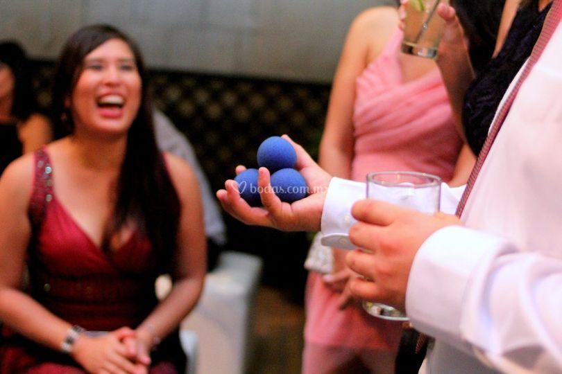 Show de magia en boda