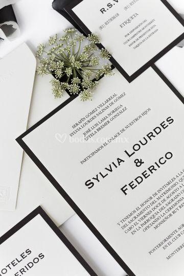 Invitaciones en letterpress
