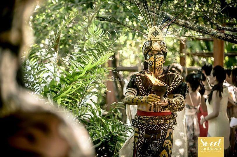Espectacular  boda maya