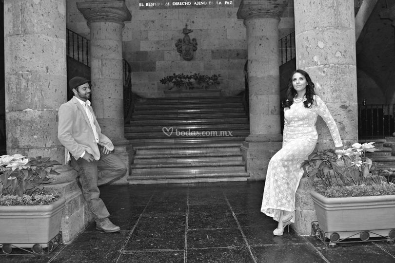 Sesión de fotos en Palacio de Gobierno Guadalajara